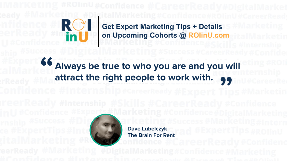Dave Lubelczyk Podcast Promo TipCard #ROIinU August31 2021(1)